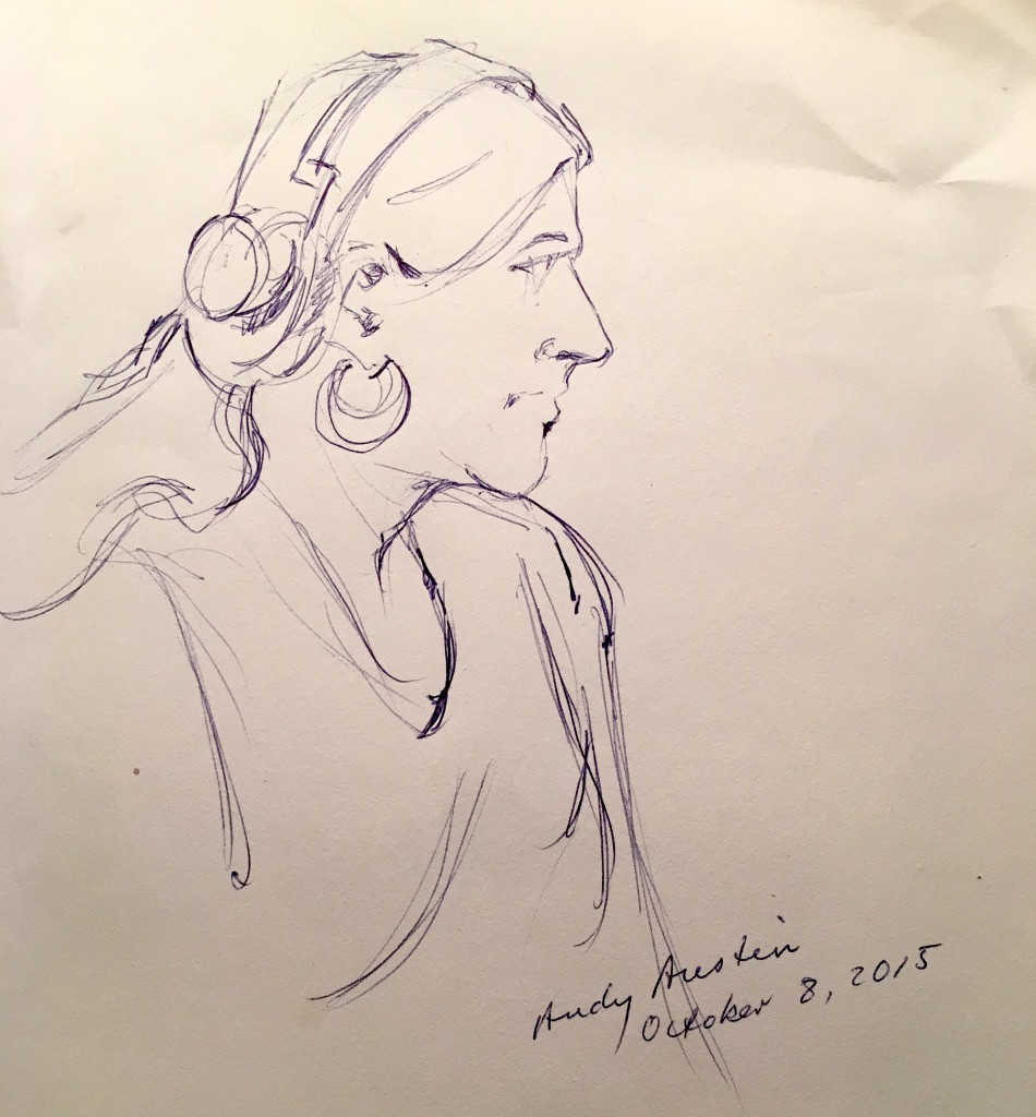 Andy's sketch of Phoebe