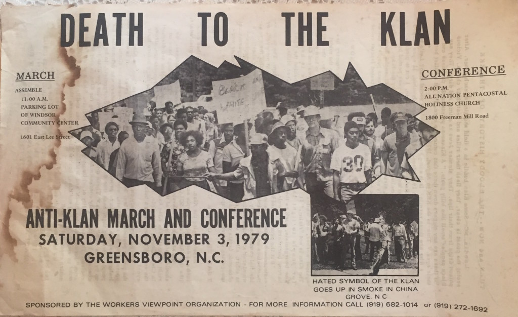 """A newspaper clipping with the headline """"Death to the Klan."""""""