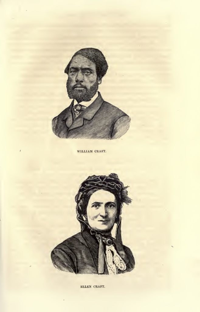 Illustrations of William and Ellen Craft from William Still's The Underground Railroad Records (1872)