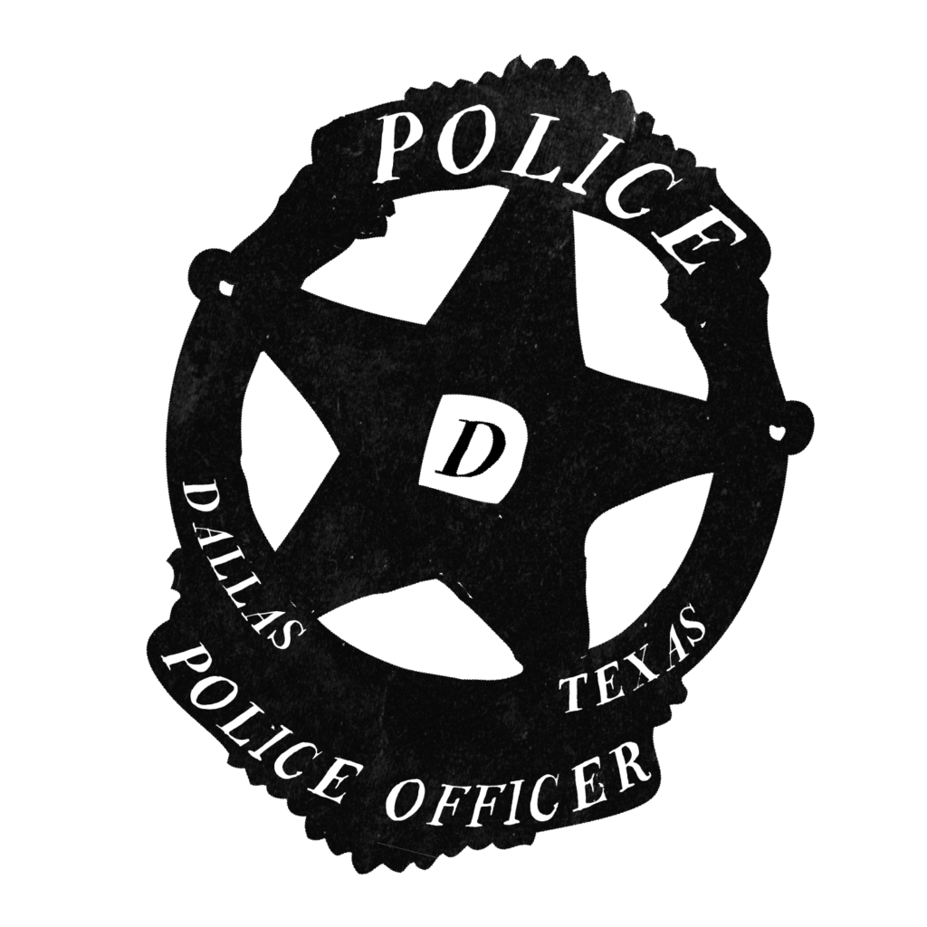 An illustration of a Dallas Police badge.