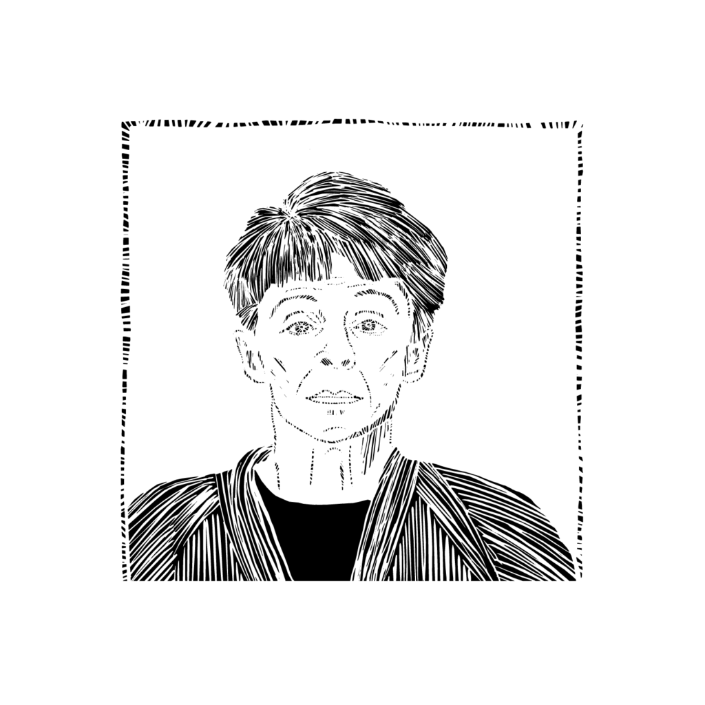An illustration of Linda Gillman.