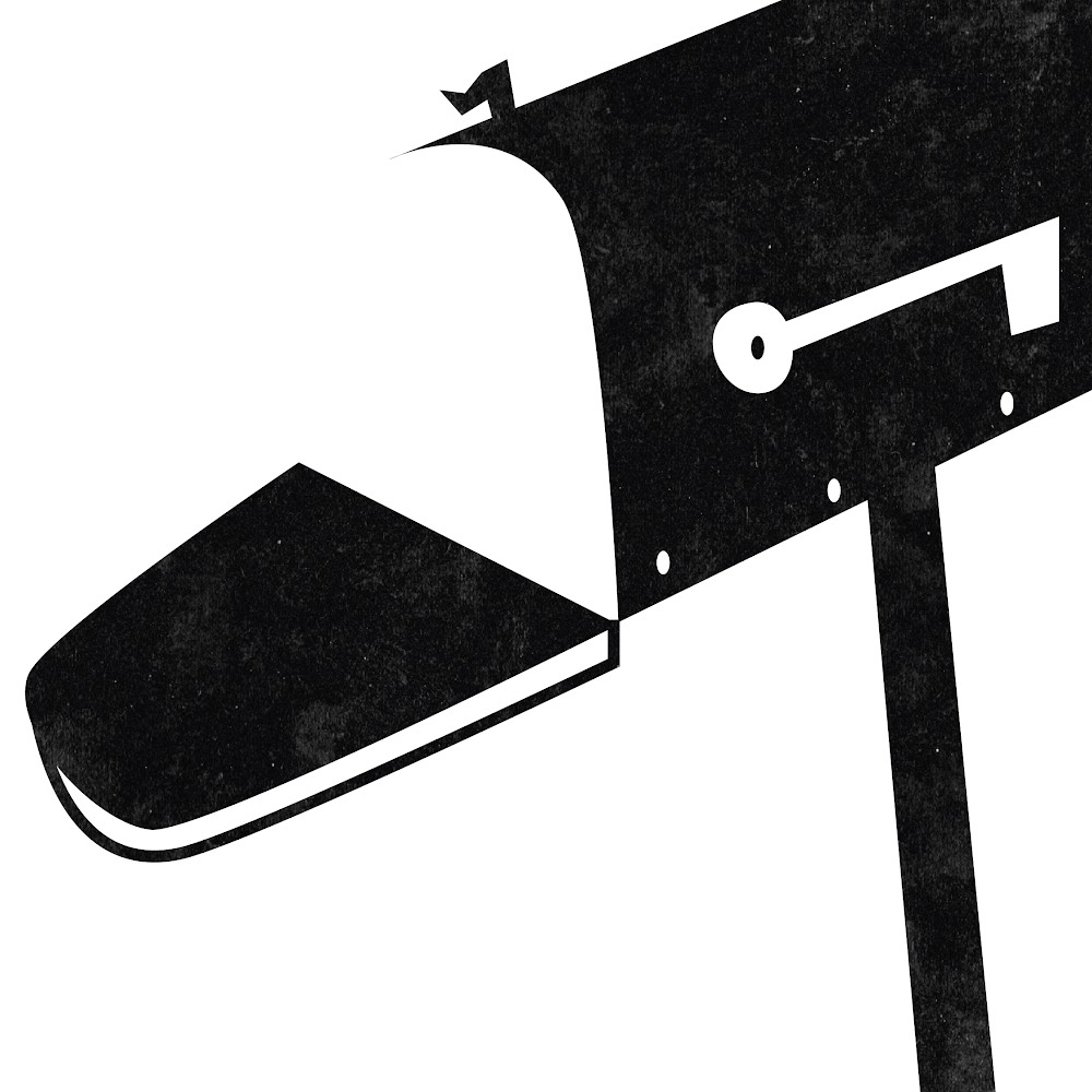 An illustration of an open mailbox.