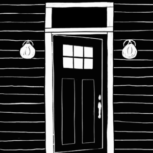 An illustration of a door ajar.