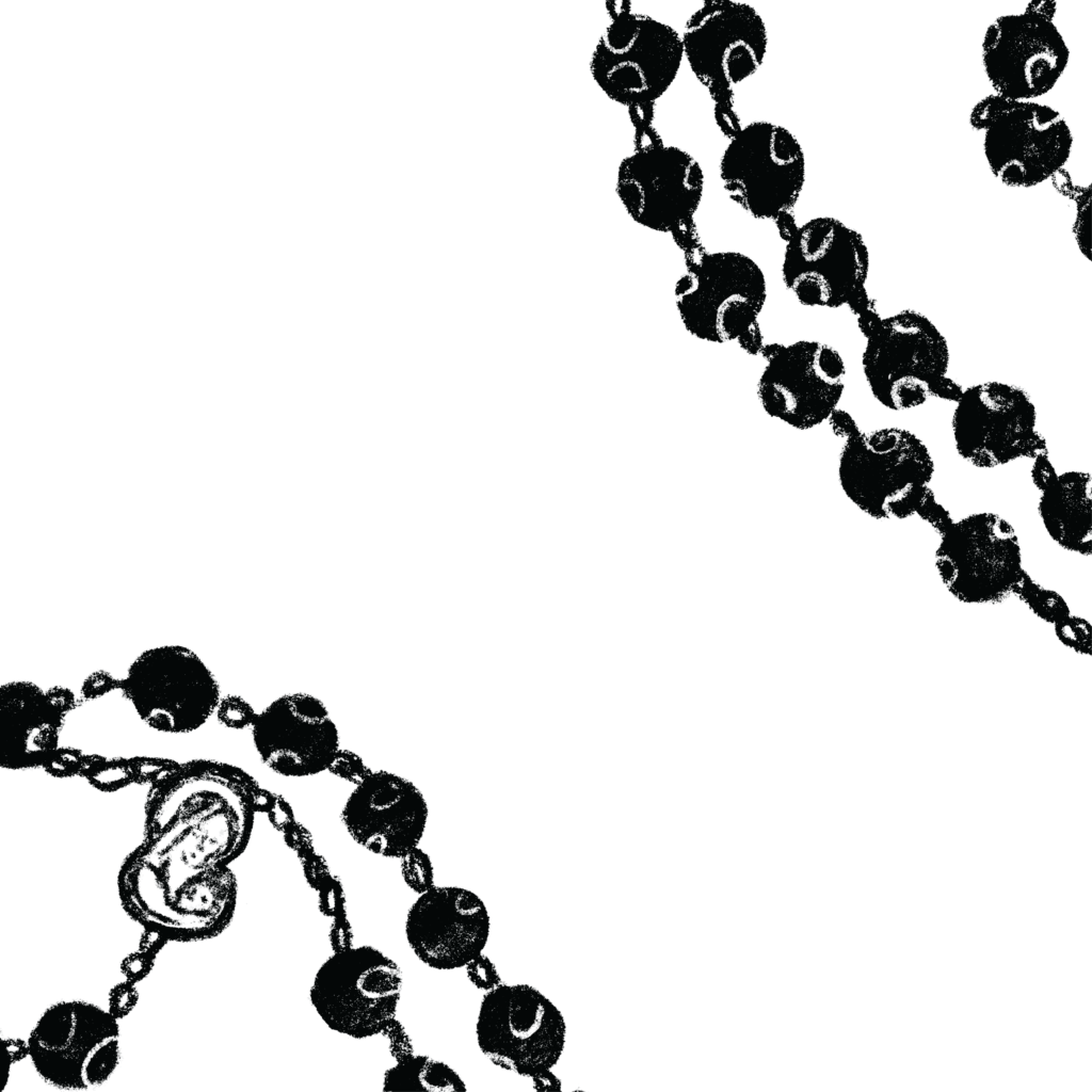 Abstracted depiction of a rosary